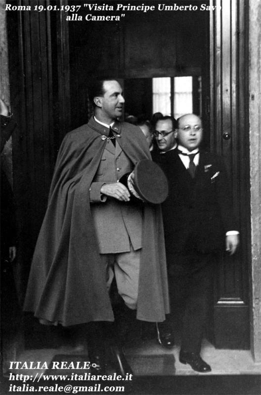 Visita del Principe Umberto di Savoia alla Camera