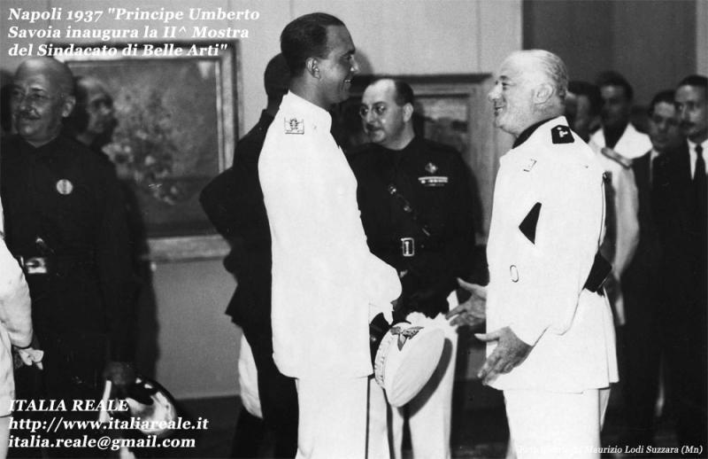 Principe Umberto di Savoia alla 2° mostra del Sindacato di Belle Arti