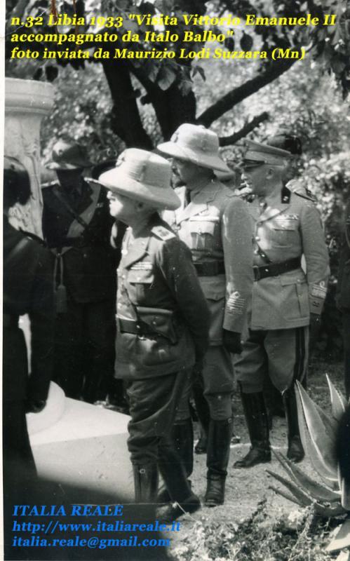 Vittorio Emanuele III e Balbo in Libria nel 1933