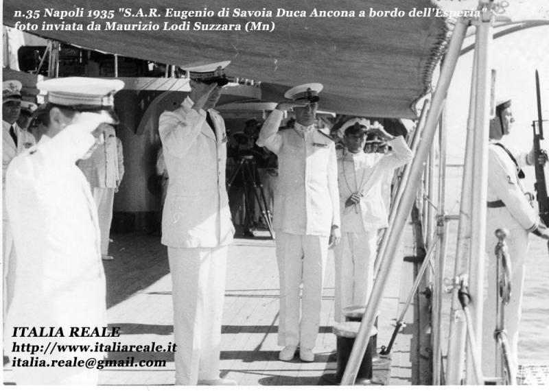 Eugenio di Savoia a bordo dell'Esperia (Napoli)