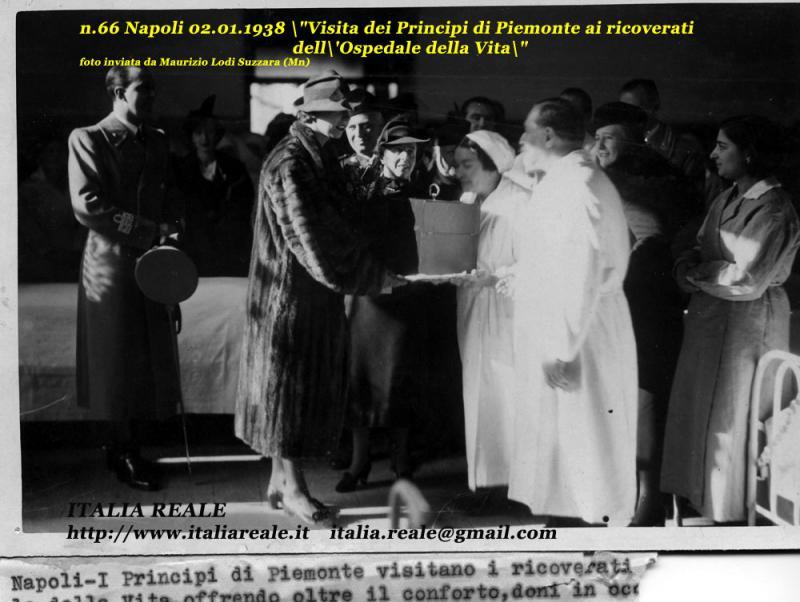 Principi di Piemonte ai ricoverati dell'Ospedale della Vita