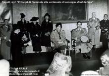 Principi di Piemonte alla cerimonia di consegna dei doni di Befana