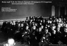 Vittorio Emanuele III al X congresso Internazionale della Chimica