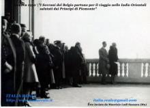 Maria Josè e Umberto salutano i sovrani belgi a Genova