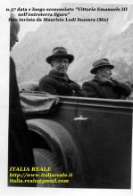 Re Vittorio Emanuele III nell'entroterra ligure