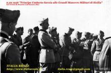Umberto di Savoia alle Grandi Manovre Militari della Sicilia