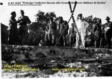 Principe Umberto di Savoia alle Grandi Manovre Militari della Sicilia