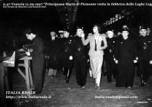 Maria José alla fabbrica delle Leghe Leggere di Venezia