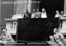 Nozze di Umberto e Maria Josè al balcone del Quirinale