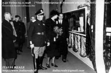 Maria Josè alla mostra dell'Autarchia di Torino