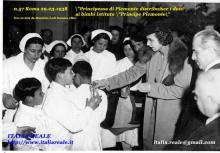 """Maria Josè distribuisce doni ai bambini dell'Istituto """"Principe di Piemonte"""""""