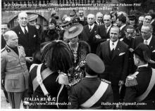 Maria José a Palazzo Pitti con i comandanti della bande militari