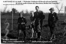 Principe Umberto ad una battuta di caccia a Venaria Reale