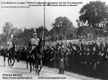 Re Vittorio Emanuele III inaugura Via dei Fori Imperiali