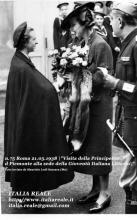 Maria José visita la sede della Gioventù Italiana Littorio