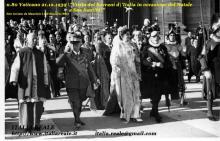 Vittorio Emanuele III e Elena al Vaticano in occasione del Natale